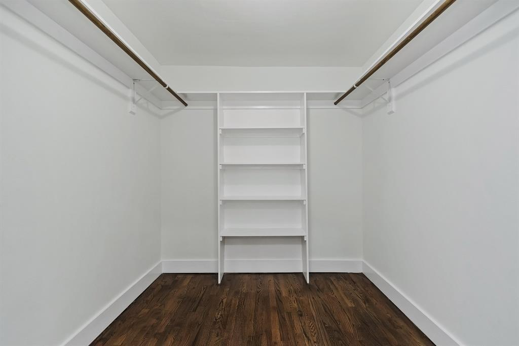 The primary walk-in closet. Add a dresser or two, or customize to your needs.