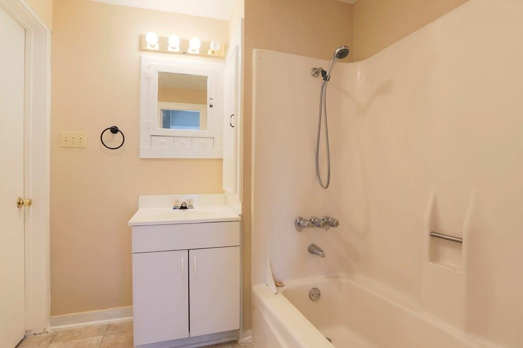 The second full bath offers a shower/tub combo.