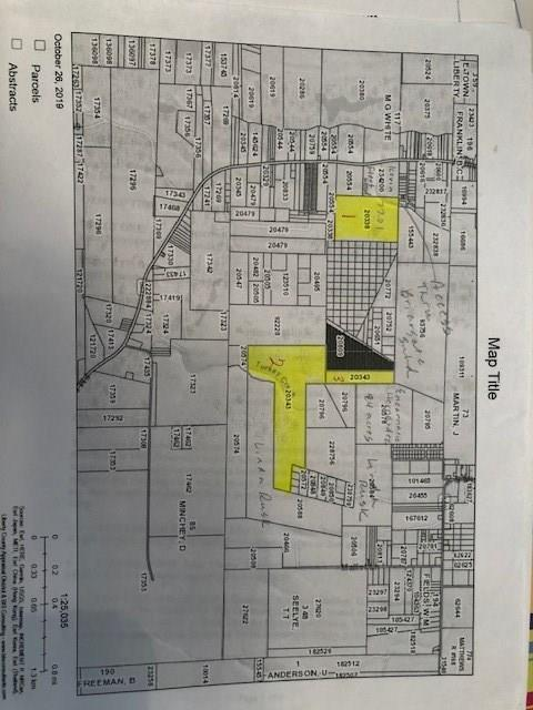 This sale consists of 50 acres of land, with the sellers owning an undivided interest in 18 acres. This property is possibly landlocked with no access, buyer will need to negotiate access of easement and obtain surveys.  Mineral rights to convey with property.