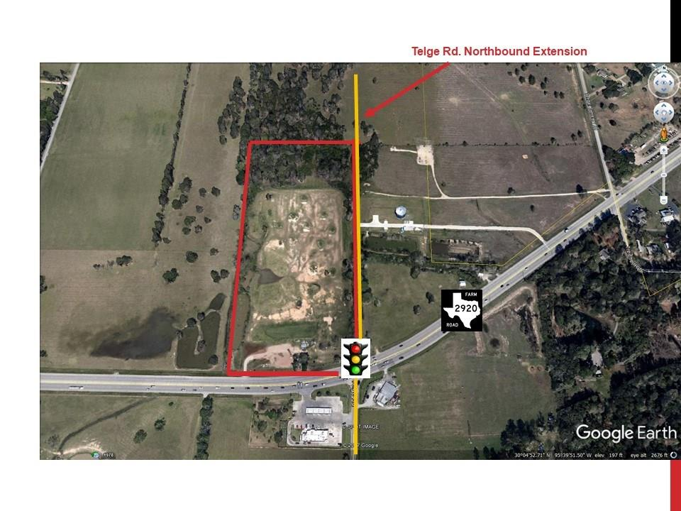 18.75 of unrestricted land ideal for commercial or residential development at the SEC of FM 2920 Rd & Telge Rd. Currently being use as a golf driving range under a month-to-month lease agreement. Per Harris plans Telge rd will be extended north bound passing at the edge of the land. Facing +/- 630 ffet to FM 2920 and +/- 1,286 to the new Telge extended road.  IMST report is available if buyer is interested in building a gas station. Land is in the city of Houston and has to be re-plated since all utilities are available from the city of Tomball. SELLER WILL NOT SUBDIVIDE. Contact the listing agent for