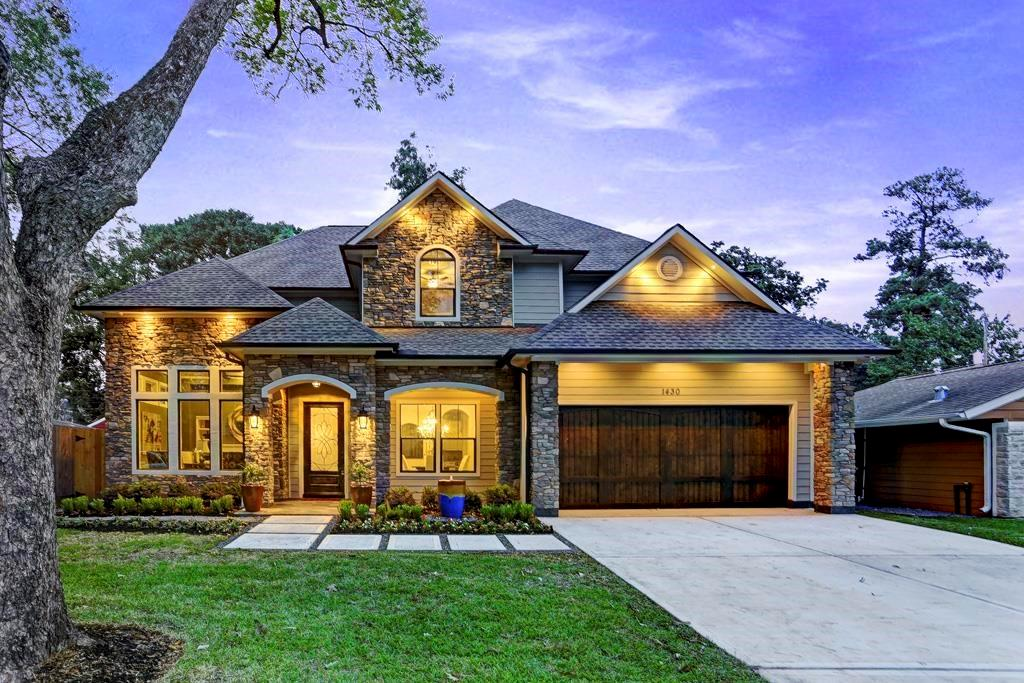 Elegant two-story home situated in the heart of highly desired Oak Forest features a spacious layout with high ceilings, open living areas, media room, home office, 4 bedrooms, 3.5 baths, and a 2-car garage. Built in 2015 by a detailed-oriented builder with full line of high-end kitchen appliances, granite countertops, cool-tone colors, and premium hard wood flooring throughout except for media room. Entertainment is easy with outdoor kitchen and large media room pre-wired with in-ceiling speakers. Also equipped with security cameras and home security system to ensure safety for you and your family. This is a must see!
