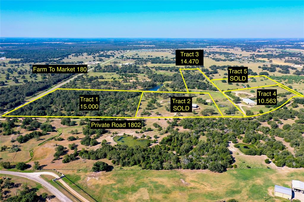 Pretty tract with nice trees surrounding potential homesite. Two nice gullies but no floodplain. Bluebonnet Electric and Lee County water line available at road. Restricted against mobile home parks. Two addiitonal tracts are available. Call for more info!