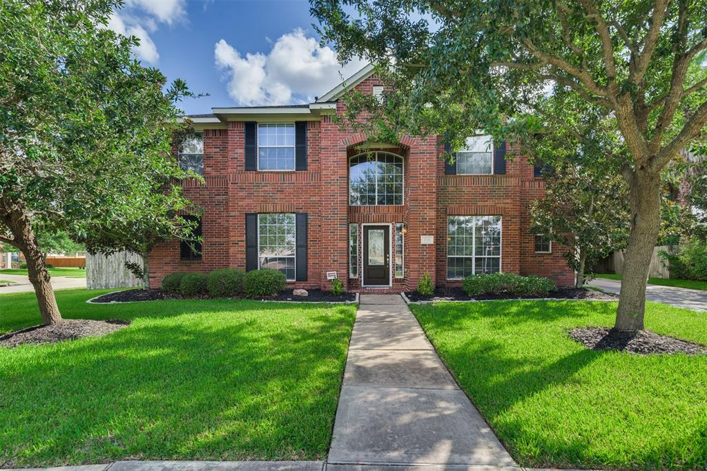 This Dynamic two story home is situated on an oversized culdesac corner lot, 5 Bedrooms with 3.5 baths. This is the perfect home for entertaining family and friends! Interior features include high ceilings, tile and carpet flooring, lovely archways, formal dining room, spacious living room with a cozy fireplace. Enjoy the amazing gourmet kitchen with granite counter tops, kitchen island, breakfast bar and gas range. The spacious primary suit is located downstairs, primary bath includes dual vanities, seperate shower & garden tub. Upstairs offers a huge game room, & theater room for movie night. The backyard includes an extended covered patio for relaxing and room for a pool! Down stairs study room and upstairs media room or 5th bedroom option with a huge gameroom. Amazing Family neighborhood with walking trails, park, pool, and easy access to Hwy 59 & 99.