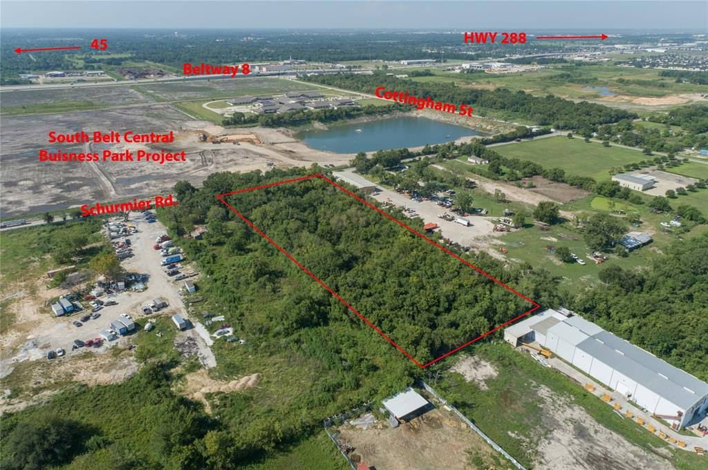 What a great LOCATION and potential investment OPPORTUNITY! Property is directly behind SOUTH BELT CENTRAL BUSINESS PARK, a 3.5 million sq ft industrial business park project.  5 acres of unrestricted unimproved vacant land available for commercial or residential use. Property is accessible from Beltway 8, 2.7 miles to HWY 288, 8 miles from the Med Center, 10.5 miles from Downtown, and 4 miles from Hobby Airport. Recent road improvements makes access to the property convenient.