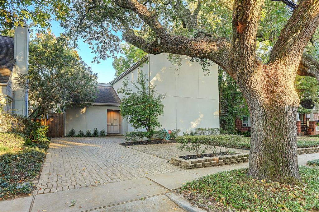 Great light-filled home with rare primary bedroom down. Great location, walking distance to Rice Village. Two secondary bedrooms with private baths up as well as gameroom with wet bar. Light and bright kitchen. Spacious den plus dining and living room offer flexible spaces. Many updates throughout. This home and location offer a fabulous walkable West U lifestyle. (All per seller)
