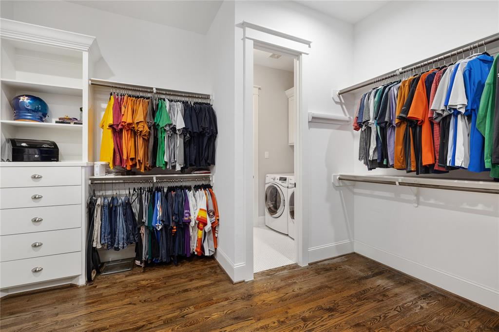 Located just off the master closet, you will find the conveniently located utility room.