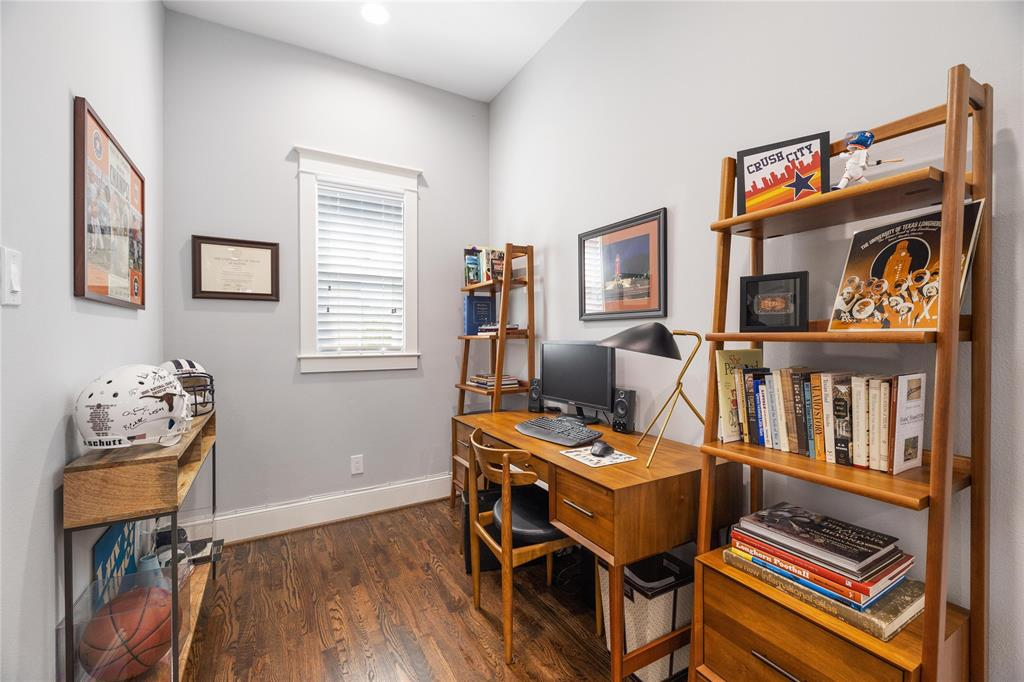 This generous study space is a great use of space.
