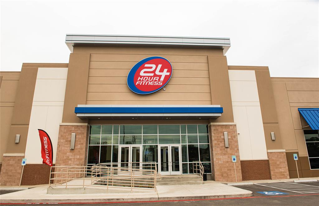 The brand new 24 Hour fitness is a short drive away.