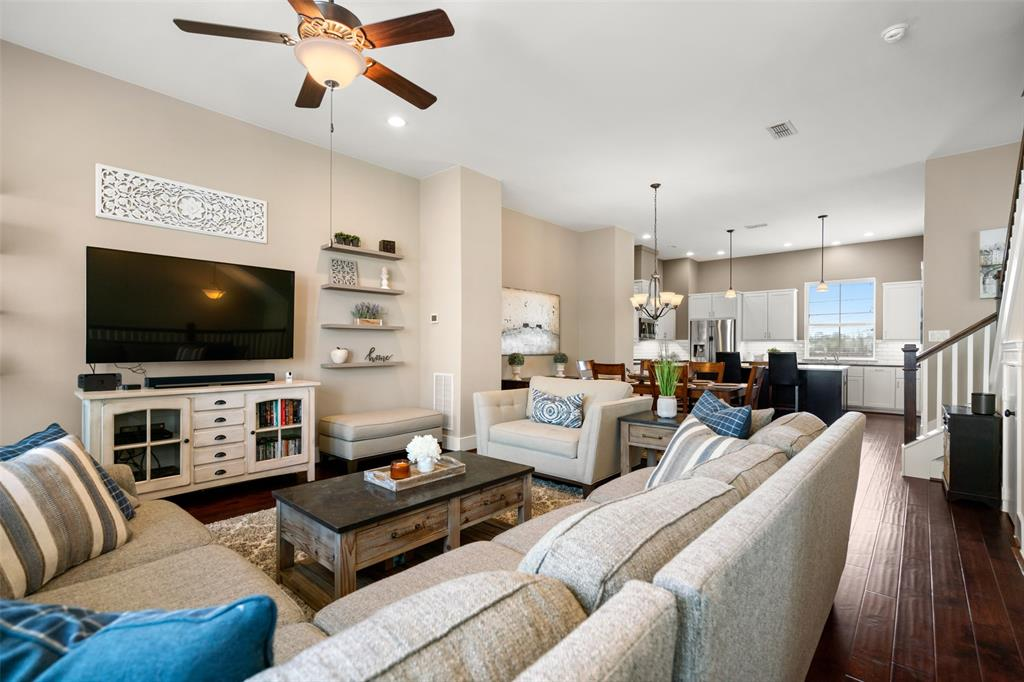 The open floor plan functions perfectly for today's modern lifestyle.