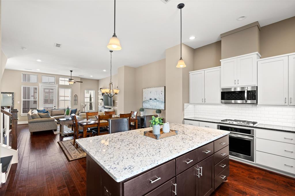 The family chef will love entertaining in this modern kitchen.