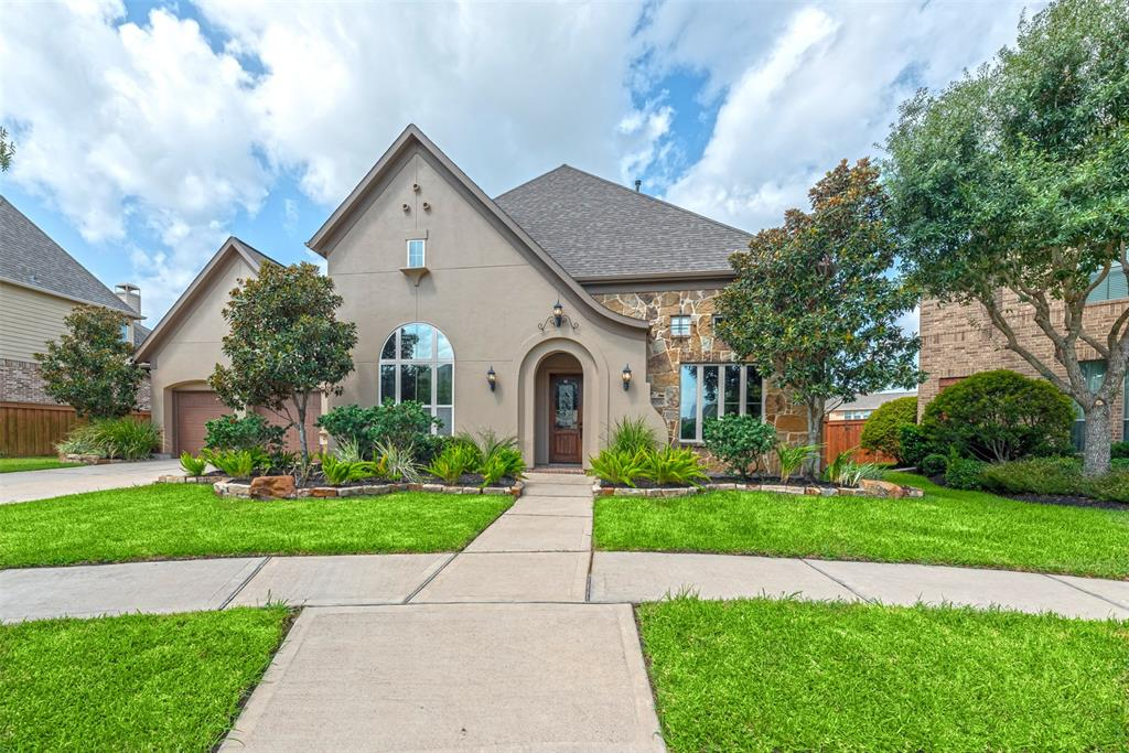 This 2-story Darling Home has 4 BR and 3 full baths, and a half bath on each floor.  It's located in the highly desired Aliana Master Planned Community on a cul-de-sac near shopping and major highways.  The property is 4,132 sq ft. and has surround sound pre-wired throughout the home. The spacious gourmet kitchen has a large island, double oven and upgraded cabinetry.  The 2nd floor is in pristine condition, and has a massive game room and media room.  The primary bedroom has a huge walk-in closet with custom built-in shelves  The home, which has had only 1 owner, also has a 3-car tandem garage with extra storage.  The front yard landscaping has pavers and stone elevation, while the backyard has an abundance of raised garden beds.  The extended concrete patio is perfect for relaxing or entertaining, and has a dual entrance from the kitchen or primary bedroom.  Residents have access to two clubhouses, fitness facilities, miles of walking trails, and large resort style private pools.