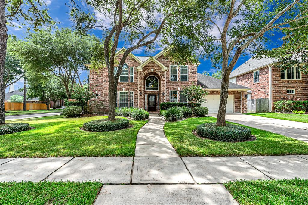 Gorgeous 2- story home w/ 4 bedrooms, 3.5 bathrooms & 2-car garage in sought-after Cinco Ranch North Lake Village! Totally updated backyard oasis w/ sparkling pool & spa that's been resurfaced. New cedar fence & decking! No carpet, fresh interior paint, & crown molding throughout! Large island kitchen w/ stainless steel appliances, solid wood cabinets & granite. Open concept floor plan. Living room w/ 18' ceilings, built-ins, gas log fireplace & recessed surround sound. Spacious master suite w/ updated en suite bath w/ granite, walk-in closet & frameless shower. Flex room could be gym, play room, 2nd study, or converted back to 3-car garage! Gameroom, 3 beds, 2 renovated baths upstairs. Double pane windows, updated roof (2012), water heaters (2016), 2 Trane ACs (2010). Cinco residents enjoy amenities that include CR Beach Club & pool, tennis courts, walking trails & parks! Zoned to exceptional Williams/Beck/Cinco Katy ISD. Easy access to La Centerra, I-10, Grand Pkwy & Energy Corridor.