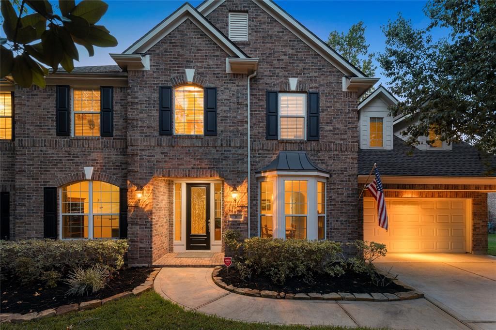 "Welcome home to the sought after Pepperdale neighborhood in Sterling Ridge. This Village Builder ""Monet"" plan offers four bedrooms, three and a half bathrooms and a 3 car garage. Lush and private backyard, with no back neighbors. Beautiful custom pool and spa with extended patio and fireplace. Amazing gourmet kitchen, with large island open to the great room with beautiful stone fireplace, high ceilings and a wall of windows overlook the pretty backyard. The large primary bedroom offers a retreat and fireplace perfect to use as a nursery, exercise area, reading room. The options are endless. The first floor also offers a formal dining room, a study and a half bath. On the second floor you will find three generous size bedrooms, and a large game room. Amazing neighborhood which also includes a lake and park, family friendly and zoned to the Exemplary Deretchin Elementary School. A must see!"