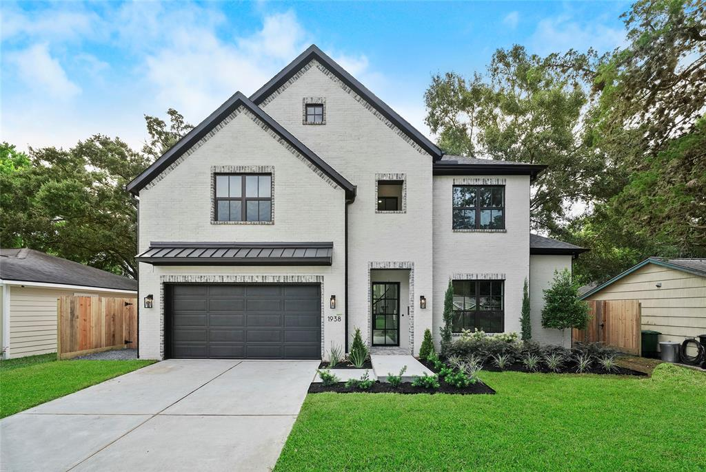 """New Construction by Quintessa Homes includes 4 bedrooms/3.5 baths with a unique open concept design in thriving Spring Branch. Home will feature painted brick exterior with exposed brick and metal roof accents, custom metal door at front entry, custom metal sliding doors at patio, 1st floor Master Suite & Study, 2nd floor game room and media/flex room, high-end finishes and oak wood floors through out. Chef's kitchen will include Large island, Kent Moore cabinetry, Quartz counter tops, designer pendant lighting, under-cabinet LED lighting, high-end appliance package and stainless under-mount sink. Master Suite will feature double vanities, extended make-up vanity, Freestanding tub, separate walk-in shower with bench and designer walk-in closet. Home will also feature Low-e double paned windows, 8"""" baseboards throughout home, Wifi-Mesh and Home audio pre-wire, Camera system prewire, Sprinkler system in Front yard, French drains and designer inspired landscape in the front of home!"""