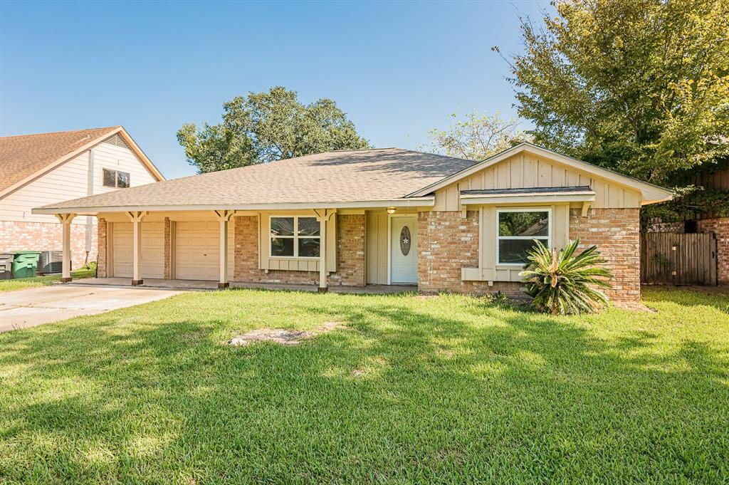 https://www.youtube.com/watch?v=iKs-eoJWQL4&feature=youtu.be. Beautiful home located near schools, eateries and amenities  There is a beautiful dining room and study near the main entrances and full kitchen with electric cook top stove/oven and a ventilator. New granite counter tops and new tile wood floors with finish. Cute breakfast area with sliding doors leading outside to covered patio in a fully fenced backyard for enjoying a beautiful day outside. Home has new baseboard and accent wall throughout. Master bedroom has closet and gorgeous bathroom with new slate tiles remodeled shower. New sinks with new faucets. New windows and sliding doors throughout.  Home has a new roof and new a/c unit. Guest bathroom has new granite counter tops and beautiful shower tiles. NO CARPET, FOUNDATION HAS WARRANTY