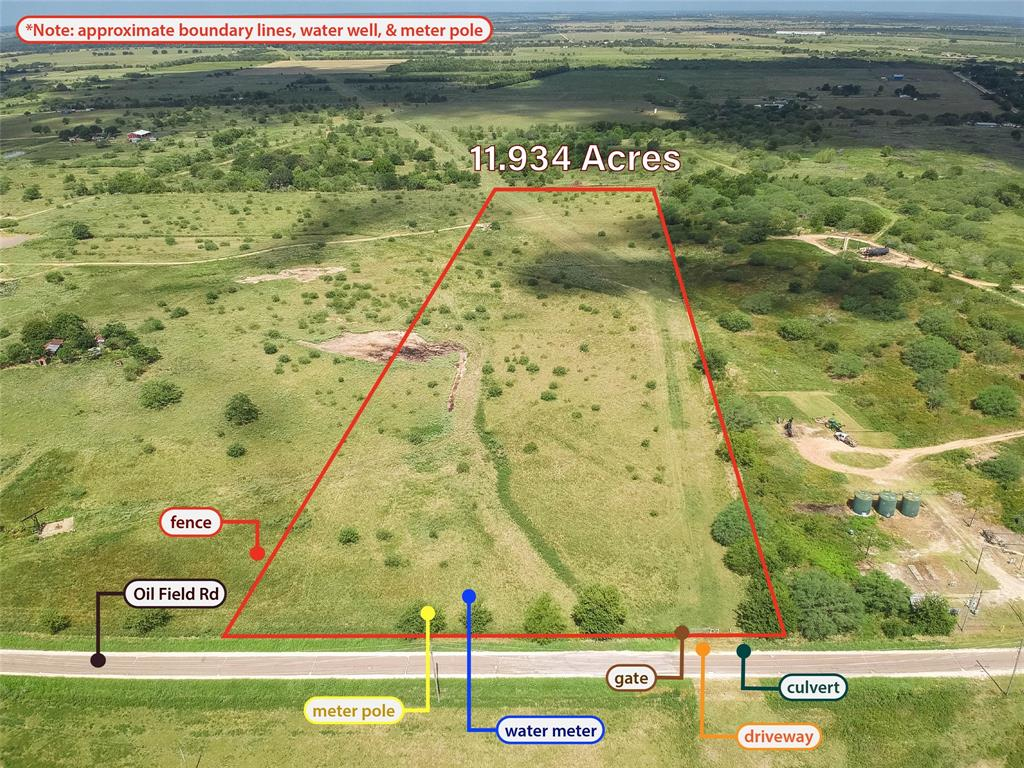 This beautiful 11.934-acre tract is located in Bellville, TX, close to I-10. It's off the beaten path yet still located in close proximity to the thriving economic center of Sealy. The property is perfect for building a home or raising cattle. It has many added improvements and features so that you don't have to deal with the hassle of permits, approvals, and licensing with the county. Improvements and features include: 1) Low Agricultural Exempt Taxes 2) Minimal Deed Restrictions 3) Private Water Well 4) Electricity Meter Installed 5) Driveway with Culvert 6) Fenced Property with Farm Gate 7) Flat Land   Downtown Bellville boasts a variety of eclectic and unique shops with a small-town charm feel. The town hosts its famous Bellville Meat Market, a medieval castle, craft brewery, blacksmith shop, and former jailhouse. It is not only a place that provides escape from the hassle of the big city, but also a wonderful community.
