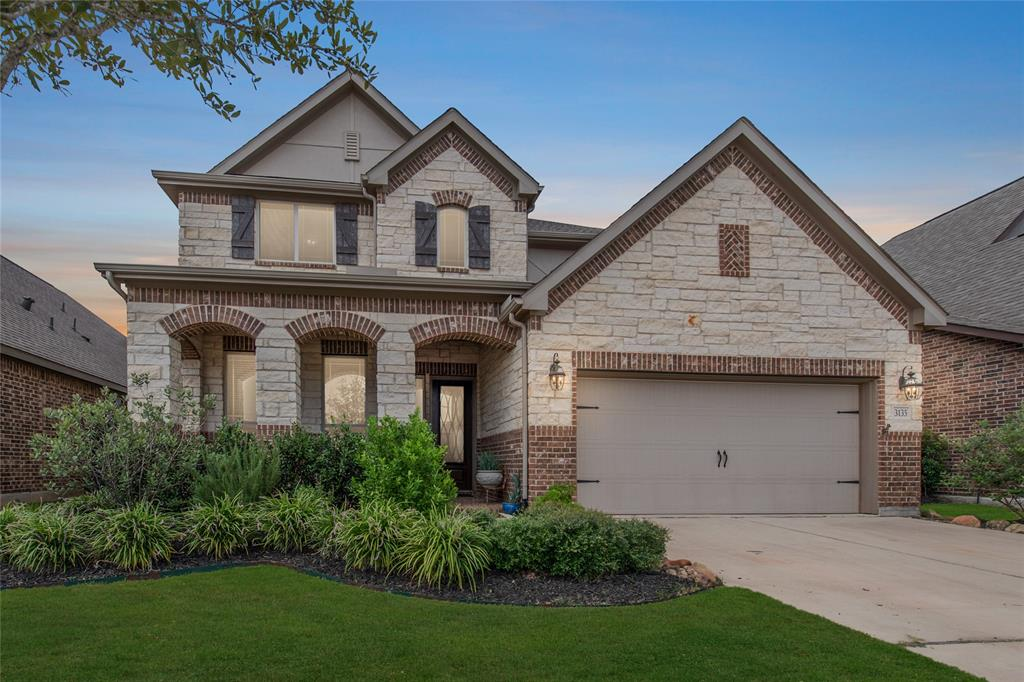 """GORGEOUS!! 2 Story Lennar Home, Lakeside Collection """"Canyon"""" Plan with a Brick/Stone Elevations in Family Friendly Harvest Green Neighborhood!  Huge open concept Kitchen with 42"""" Cabinets w/under lighting, Large Island, Granite Counter tops throughout. Family Room with Gas fireplace, a Spacious Upstairs Game room.  Lennar Special upgrades include 8FT Doors, Primary Room with huge walk in closets!  Secondary upstairs Bedroom with Full Bath, Wood Floors, 2"""" Faux Wood Blinds; Ceiling Fans,  Covered Back Patio w/no back Neighbors.  Energy Efficient AC with 16 SEER HVAC, Prgm Thermostat, Ring Doorbell. NEVER FLOODED!.  Tons of Community Amenities that include a Gym, Resort style Pool, Organic Farm, Dog Park, Tennis Courts and over 30 Acres of Lakes and 50 acres of Parkland and Walking Trails.  The Famous Messina Hof Winery Completion date Fall 2020! Don't miss your opportunity to live in the highly Sought after Master Planned Community. Easy access to Grand Parkway/Westpark Toll."""