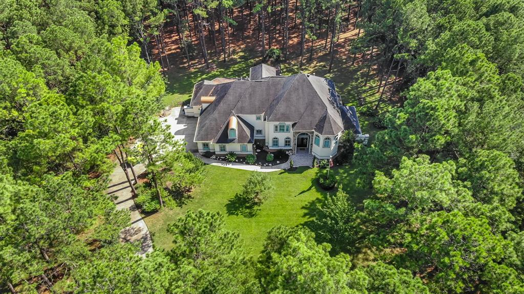 BE SURE TO CLICK THE 3D WALK-THRU VIDEO LINK! Peaceful country living & still close to luxuries/conveniences of the city! Hard to find 3.2 wooded acres in Old Katy. Low tax/no MUD. Quick access to 99 & I-10. Easily be self sufficient-well water/septic sys. One of a kind custom design & built. Floor to ceiling butted glass windows span back of home offer stunning views. Open concept flpln. Kitchen is to die for-HUGE wrap-around island breakfst bar, 2nd island w/cook-top, high-end appliances, soft close custom cabinets that go on for days+tons more. 2nd bedrm down w/full bath, private entrance-great mother-in-law suite. Huge gamerm w/built-ins. Study is on half floor, up first few steps. Relaxing bath, walk-in shower w/multiple rain shower faucets. A girls dream closet w/island dressing area. Dual staircases. Huge bonus rm. 2nd & 3rd bedrms connected w/ladders to a lofted playrm-kids are going to LOVE this! Towering trees & forest are home to lots of wild-life-a nature-lovers delight.