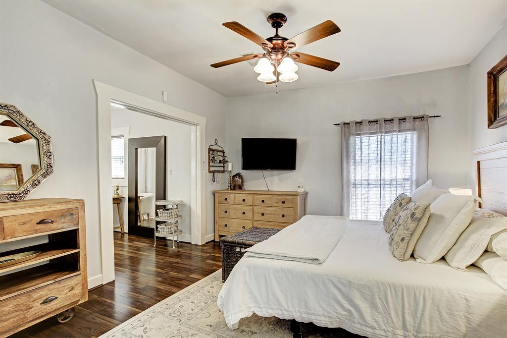 The primary suite is well sized and includes a bonus space.