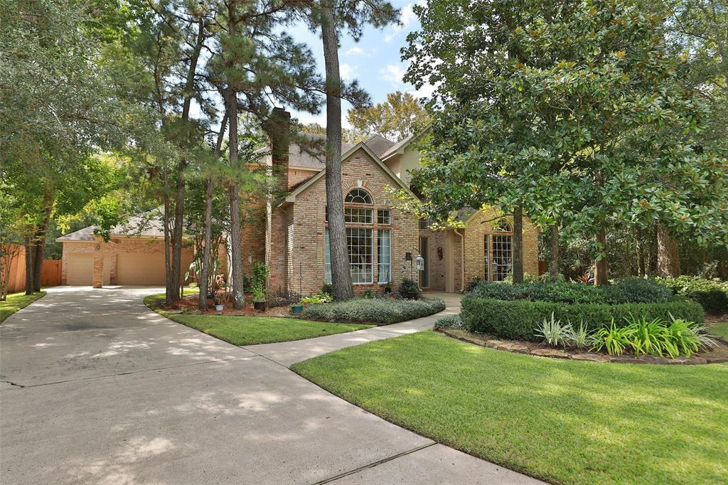 Gorgeous 2 story Custom home built by Dean Gaertner in Wedgemere neighborhood of Cochrans Crossing. Located in the heart of The Woodlands, an easy walk or bike ride to David Elem, Collins Intermediate and Shadowbend Park. Wait until you see the updates that this owner has done. Updates include: Remodel of Primary Bath, Interior paint, tile flooring, drapes, gas logs, granite countertops, backsplash,under counter lighting, Stainless undermount sink,dishwasher and touch control faucet. Check out the floor to ceiling fireplace surround in family room. There are just too many updated features to list. Please see Home Improvemnet list online. This home has an abundance of closet space with huge his/her closets in Primary en-suite bath. The backyard is private with a pool/spa, covered patio, outdoor speakers, and no neighbors behind. You are going to love it from the moment you enter this lovely property.