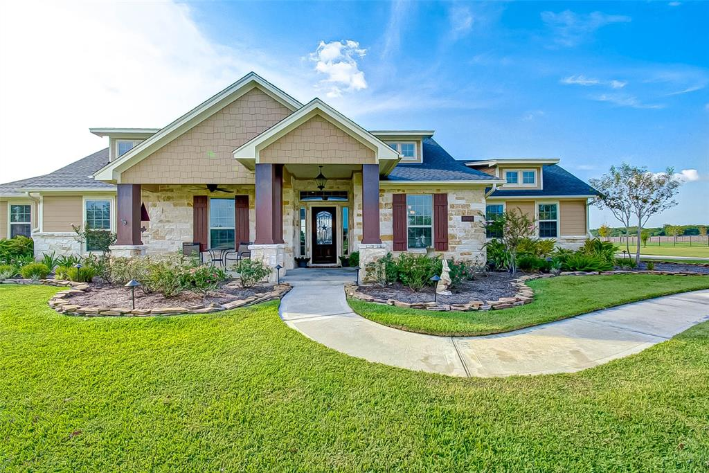 WOW! GORGEOUS custom home by KIRK HOMES with sparkling heated chlorine pool / spa in the gated community of Tejas Lakes! This stunning home is ready for new owners! You are instantly greeted by gleaming polished and stained concrete floors which flow throughout the living areas. Vaulted ceilings with fireplace and tons of natural light in the living room! Warm wood custom cabinetry and granite countertops in this ideal open kitchen and the baths. Master bathroom offers tons of storage & an oversized tile shower and large closet with built-ins! This home offers three bedrooms in an ideal split floor plan, plus an office and formal dining! The exterior boasts gorgeous stone along with Hardi siding. The pool & patio has been fenced w/ lovely open metal fencing, so as not to disturb your view! Tons of established landscaping with sprinklers! Drainage has been well thought out with several french drains onsite. Workshop w/ electricity in the back yard on slab! Extra sink/storage in garage!