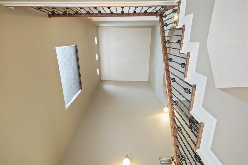 The 3 story tall stairwell creates a dramatic entry and provides lots of natural light to the living spaces.