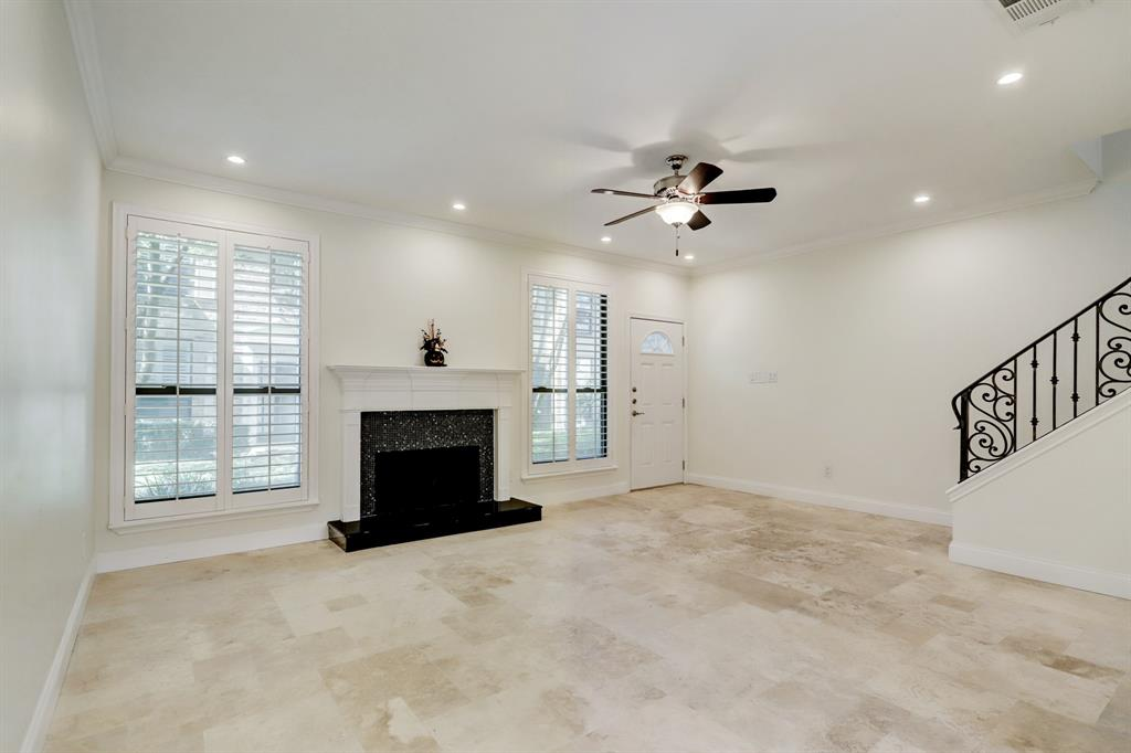 This space really is quite big and well shaped, and will accommodate a variety of furniture configurations and artwork.