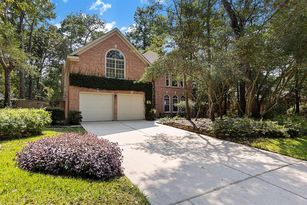 Tucked in the Alden Woods neighborhood just behind the park, this home is minutes from Interstate 45, College Park High School, Lone Star Montgomery Campus, and a plethora of dining options. This 2-story, pale brick home is on a quiet cul-de-sac with tall trees and landscaping in the front yard offering shade as well as separation from the street. A tall exterior entryway brings you into this home with features like high ceilings, crown molding, and a grand dining room. The downstairs has a balance of open space and some separation between the dining and breakfast areas. Spacious primary bedroom and bathroom are downstairs and are filled with natural light. All secondary bedrooms are upstairs as well as a large game room with two closets. In the backyard you will find a lengthy pool, perfect for laps, with a combination of shade and sun and plenty of privacy. You will appreciate the layout and natural light in this home - come out and see in person!