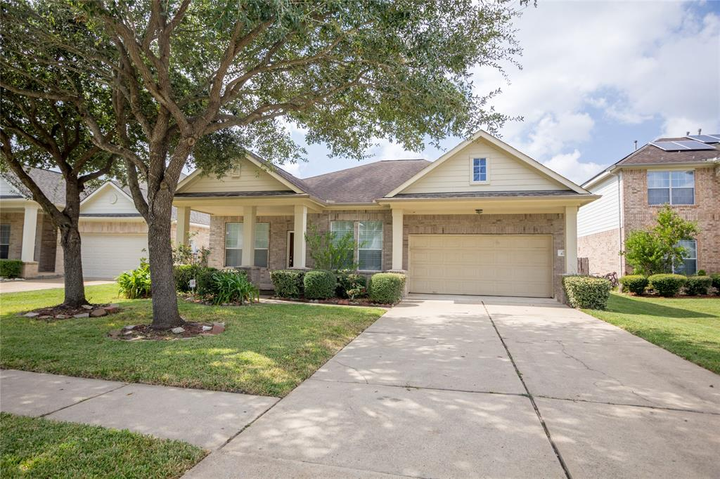 The Perfect Home, with unbelievably low Tax rate and Super Low HOA Fees (only $250 per Year).  Enjoy the low tax rate of Stafford but the home is zoned to Dulles (Fort Bend ISD.)  This home is in the quiet neighborhood of Colony Lake Estates with quick and easy access to Hwy 90, Hwy 6, and Hwy 59.  This home is in walking distance to the renowned Swaminarayan Mandir, and just minutes from Sugarland Town center.   Updates include: Brand new AC Unit, Newly / Fully Painted, Sprinkle System, Renovated kitchen cabinets, Upgraded built in garage storage cabinets and peg board, Shutter Plantation blinds and gutters all around home. It also features tile backsplash in kitchen, platform for stadium seating in the media room, oversized patio, landscaped front and back yards and much more.  You won't find many homes for sale in this area because everyone loves to live here. This is your chance to make this 1 story Gem your new home!