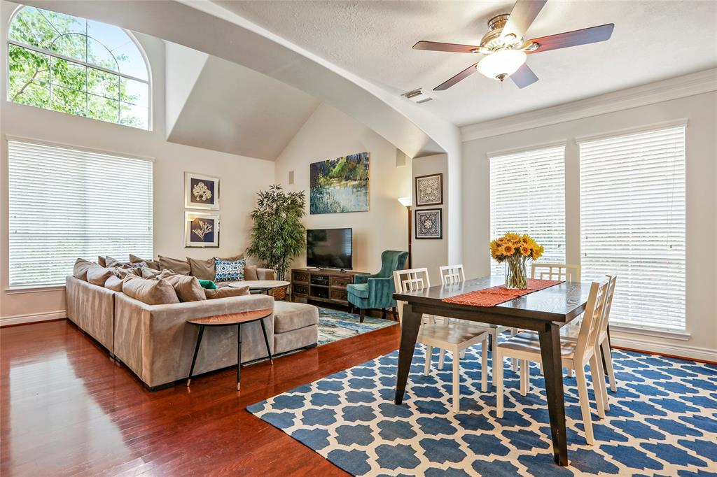 Living space also includes hardwood floors throughout. Since this is a corner lot, the side windows provide great views and lots of natural light. Per the sellers, the interior walls (incl. garage), baseboards, and doors in the main living area, kitchen, and garage painted in March 2019.