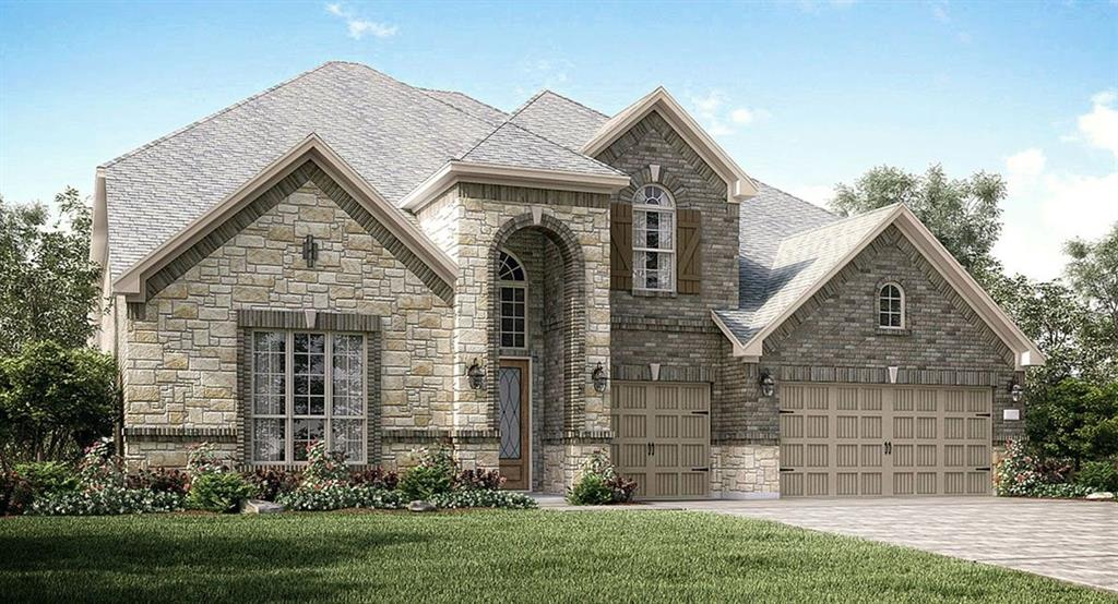 """NEW! Wentworth Collection """"Chatham"""" NEXT GEN Plan by Village Builders with Stone/Brick Elevation """"A"""" in Beautiful Aliana!  Versatile Dual Living Arrangement!  Private Suite offers a Separate Front Entrance, Living Room, Bedroom, Full Bath, and Kitchenette. Fabulous 2 Story Home, 6 Bedroom, 5 Bath, 3 Car Garage, Formal Dining Room and Study. Game Room & MEDIA ROOM Up. Family Room has Fireplace. Gourmet Island Kitchen has Great Appliance Package, adjoining Dining Room and Walk-in Pantry! Luxurious Master Suite has Corner Tub, Shower & Huge Walk-in Closet! Gorgeous and Resilient  Luxury Vinyl Plank Flooring in Main Areas, Tile in Baths, Utility Room & adjoining Mud Room. Large Covered Patio! Energy Efficient 16 SEER HVAC System & More!"""