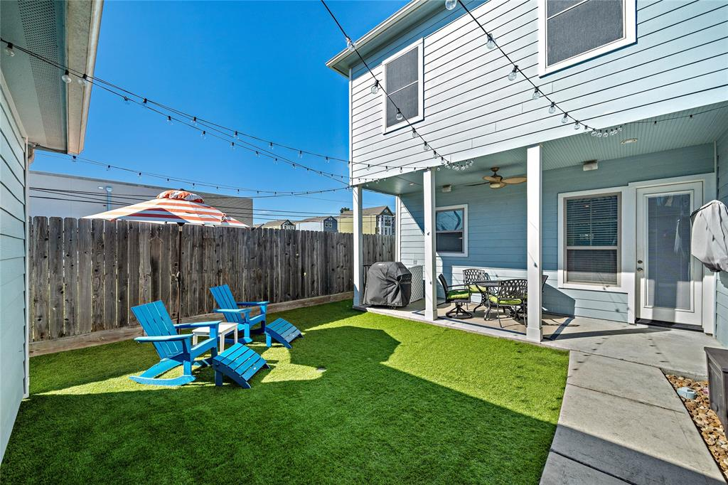 Perfect backyard space for entertaining or play complete with turf for low maintenance.