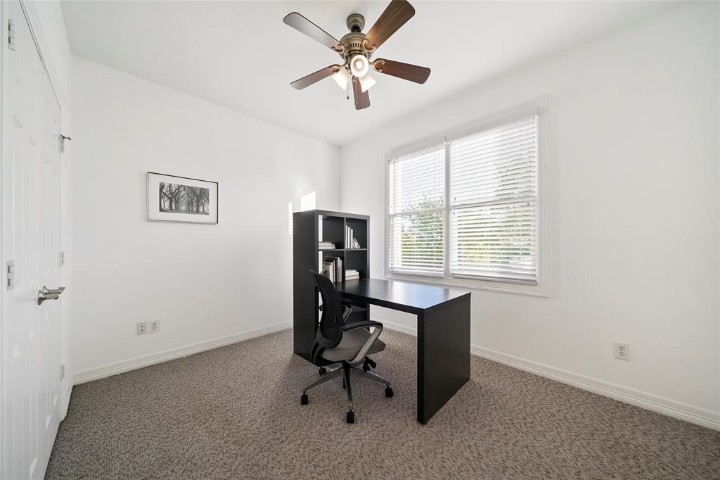 Secondary third floor bedroom can be used as a work from home office or a children's room.
