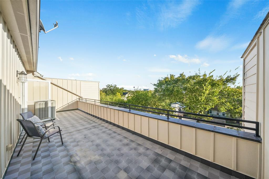 Walk up to the 4th floor for your large and private roof deck. Before entering the deck there are floored attic storage spaces on each side of the 4th floor hallway.