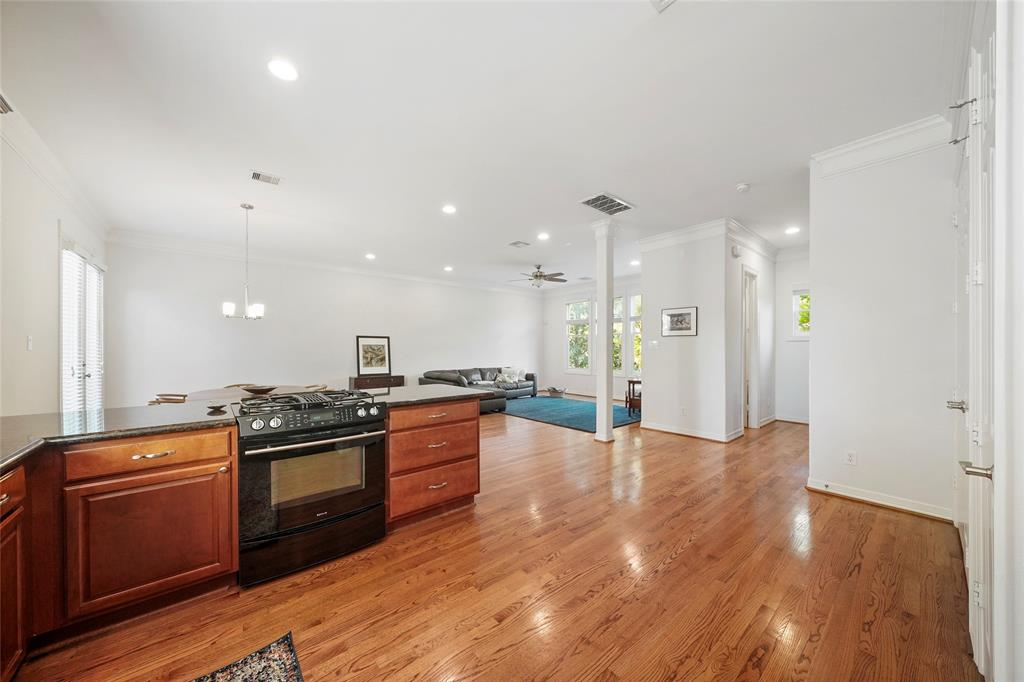 Overlooking open plan living from the kitchen sink, great for entertaining.