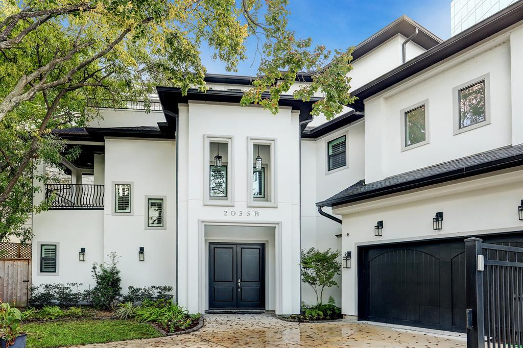This recent Southgate 2018 construction by Venice Custom Homes is located in close proximity to the Texas Medical Center, Rice University and Downtown has a bedroom and full bath on the first floor.  The elevator is already installed.  In addition to the 6 bedrooms, there is a game room that opens to a terrace. Thermador/ Wolf appliances.  There are plantation shutters and high-quality finishes throughout.  All info per seller
