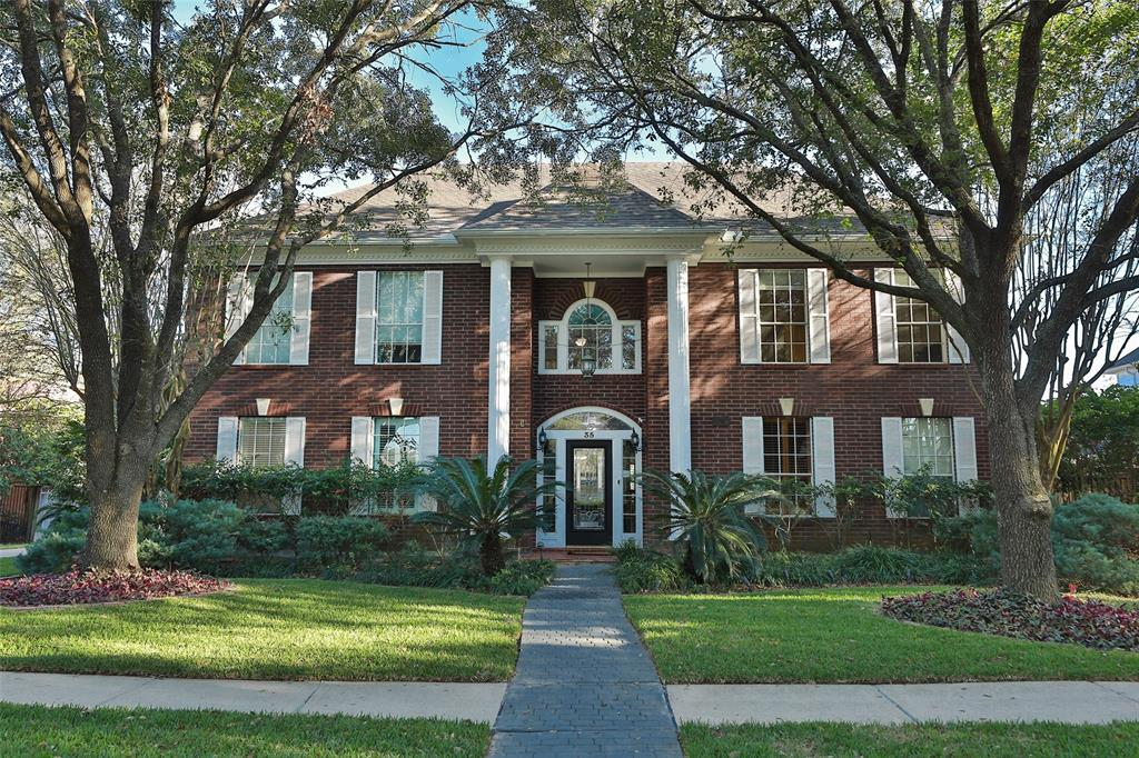 LOOK NO FURTHER!! This red brick beauty located near Pecan Park has everything you have been searching for!! The seller has added many recent updates & you will love the floor plan and spacious rooms in this lovely home!! The entry leads you to an executive study & formal dining room. Next enter a spacious den w/tile flooring, gas log fireplace & wet bar. The  island kitchen was recently remodeled & you will love the upgraded cabinets, granite countertops, double ovens & coffee bar. The utility room off of the kitchen has a wall of cabinets for amazing storage!! The large primary bedroom downstairs has tile flooring & EnSite bathroom w/double vanities, two closets, separate shower & whirlpool tub. The game room has been converted into an amazing media room w/bar & wall of DVD movies!! The seller has a complete inventory of the movies & they are yours for the asking!! All bedrooms are spacious & the extra room can be a 5th bedroom. The back yard paradise has a pool & lush landscaping!!