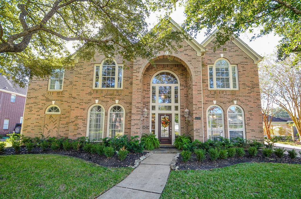 This may well be the splendid beauty you've been waiting for!Elegant and beautifully updated, there's no shortage of extras here.From the curb appeal enhanced by refreshed landscaping ,to the French antique foyer chandelier, to the travertine throughout the first floor, to magnificent wall sconces, you'll be enthralled with it all.5 bedrooms with 4 living areas including an upstairs library and game room, both formals and a family room allow for so much flexibility.The island kitchen boasts replaced cabinets and updated appliances and the primary bath has been totally and tastefully updated. The pool looks like no other with its gentle fountain and spa and there are no rear neighbors.You'll love the family room doors installed to open to the covered patio.The location, the proximity to Sweetwater Country Club and nearby dining and shopping is excellent. Commonwealth Elementary,Fort Settlement Middle and Clements High School are top ranked. This is a rare find and you'll love it!