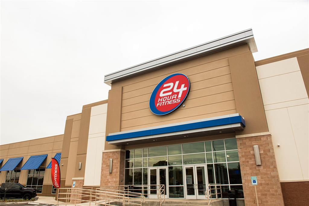 You'll find some great retail in this area that is just a short walk or bike ride away, including this recently built 24 hour fitness.