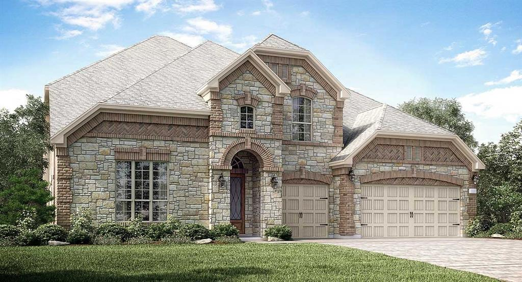 """NEW! Wentworth Collection """"Chatham"""" NEXT GEN Plan by Village Builders with Stone/Brick Elevation """"B"""" in Beautiful Aliana!  Versatile Dual Living Arrangement!  Private Suite offers a Separate Front Entrance, Living Room, Bedroom, Full Bath, and Kitchenette. Fabulous 2 Story Home, 6 Bedroom, 5 Bath, 3 Car Garage, Formal Dining Room and Study. Game Room & MEDIA ROOM Up. Family Room has Fabulous Fireplace. Gourmet Island Kitchen has Great Appliance Package, adjoining Dining Room and Walk-in Pantry! Luxurious Master Suite has Corner Tub, Shower & Huge Walk-in Closet! Gorgeous and Resilient Luxury Vinyl Plank Flooring in Main Areas, Tile in Baths, Utility Room & adjoining Mud Room. Large Covered Patio! Energy Efficient 16 SEER HVAC System & More!"""