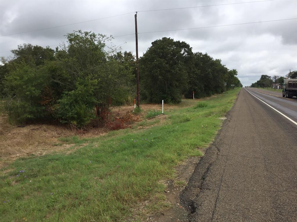 Nice shaped densely wooded property (could be commercial) just south of intersection of Hwy 7 and Hwy 79 in Marquez. Survey shows 398' of frontage along Hwy 79 (S VW Goodwin Blvd) with sides measuring 775' and 550' - a nice shaped Property to work with and set up operations or a residence on. Seller says city water and sewer will be provided - ask for details.