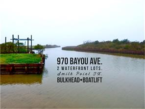 970 Bayou, Smith Point, TX, 77514