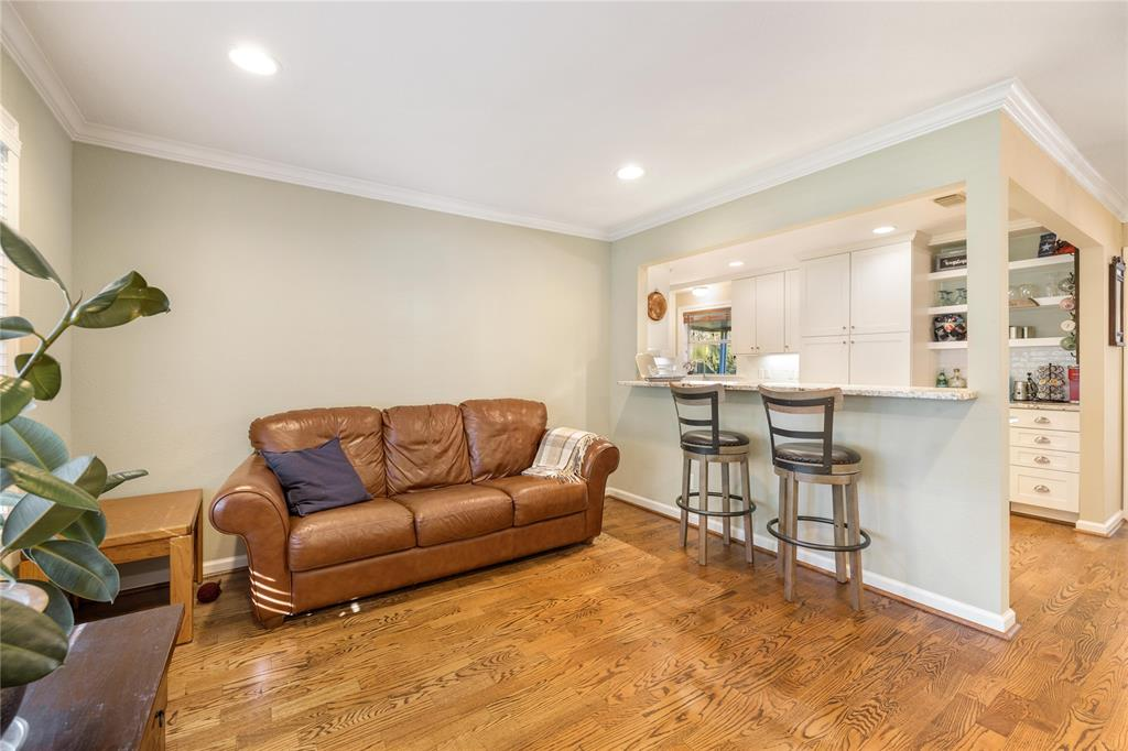 The front den area is a perfect space to the relax in the afternoons with a good book or receive guests. The breakfast bar is also a wonderful space for you and your guests to congregate.