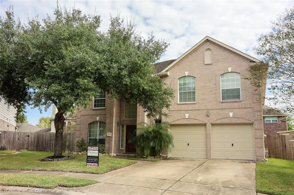 """This GORGEOUS and WELL-MAINTAINED 2-story brick house has an abundance of features. Aside from having ONLY one owner & on a cul-de-sac, you are welcomed into this house by a grand 2-story foyer, arched walkways, crown molding, & art niches. This beauty also has granite countertops throughout, new carpet, fresh paint (interior & exterior), 2019 AC along w/ NEST Thermostats, custom window arch coverings & 2"""" faux blinds as well. The kitchen has counter-space galore and includes Kenmore Elite Stainless Steel appliances complete with a walk-in pantry. 4 very spacious bedrooms are located on the 2nd floor while the Primary BDRM is located on the 1st. If the pandemic has you working from home, not to worry a private glass-french door enclosed study is large enough for more than one & is located by the HUGE game room. Outdoors you will find an entertainer's dream with its high ceiling covered patio along with a custom built shed for addtl storage & ample green space. This house is a MUST SEE!"""