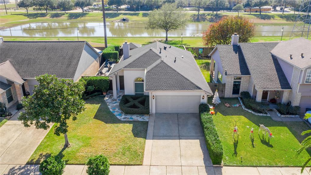 Immaculate & Well Maintained - This Cozy 1 story, 3-Bedroom home, with NO HOA, Low Tax Rate, Backyard has a 2-layer 40x12' decking with seating arrangements, 2019 Gazebo with Roof/Lights/Flagstone walkway in the Front & Back of the home, No Backyard Neighbors! Backyard is Adjacent to Fountain Lake Park, Location is within 5-Minutes to 69, Beltway 8, and Highway 90. Roof is 3 years old, 2016 Water Heater, 2020 Camera Security System, newly installed GFCI's & Breaker, 2015 Windows, and 2015 Water Infiltration System for the whole house, Room addition is: Study Room with pull out door. Sea Grass carpet in all bedrooms and hallway. Travertine flooring in all wet areas, Granite counters in Kitchen, and all bathrooms. Frameless glass shower door in Master Bathroom. The only thing missing in this home is YOU!!!!