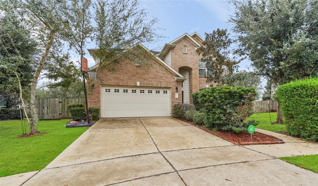 BEAUTIFUL NORTH FACING HOME zoned to CLEMENTS on 10,000+ sq ft Cul De Sac lot with NO BACK NEIGHBORS in sought after Telfair!   PRIMARY BEDROOM on 1st floor w/raised ceilings, bay windows & access to primary bathroom oasis. Primary Bathroom oasis w/his & her sinks surrounded by granite, vanity area, shower w/tile surround & large jetted garden tub to relax in! Spacious secondary bedrooms w/plush carpet. Large Living Room w/soaring ceilings, exquisite fireplace and wall of windows. Gourmet Kitchen boasts granite countertops, breakfast bar for additional seating, custom tile backsplash, & tile flooring.   Dedicated Dining Room w/crown molding & wood flooring.    GAMEROOM plus flex room upstairs features closet & FULL BATHROOM offering great space to utilize as 5th bedroom to accommodate large families.  Step outside to relax on your covered patio to enjoy time w/family & friends as well as LEMON TREE & PLAYGROUND.  Prime location close to shopping, dining and highways....A MUST SEE!