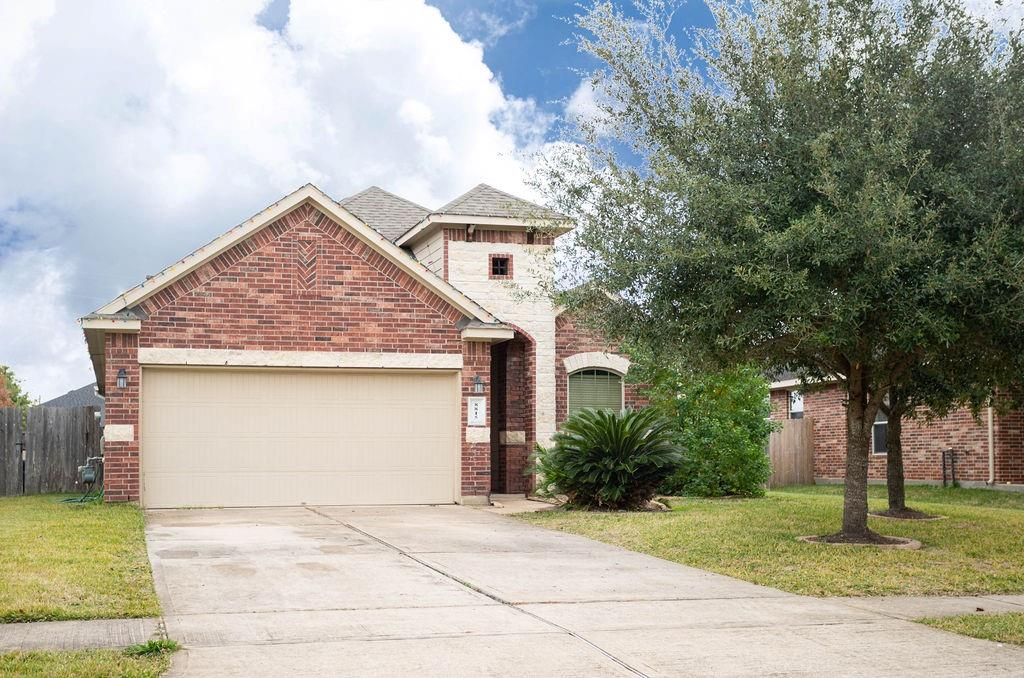 Come see this terrific single story in sought after Bonbrook! This open and flowing floorplan hosts three bedrooms and two full baths. The inviting living room boasts a corner fireplace and is open to the kitchen and breakfast room. The Texas sized owners retreat is tucked away in the back of the home for added privacy. The cozy kitchen has ample cabinets and an abundance of counter space for entertaining. Relax on your covered back porch and look over your gigantic back yard. Lots of upgrades including, garage door opener, sprinklers, outlets in pantry, built in shelves in garage.