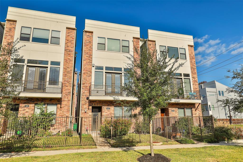 Stunning 3 bedroom located in the heart of Houston's Museum District. A prime location in the city near the Med Center and a short walk and a short walk to the light rail, coffee shops, parks, museums and more! The 1st floor boasts a bedroom with a large walk in closet, private bathroom and2 car garage. Plenty of natural light flows in from the large open 2nd floor with high ceilings and a balcony. The gourmet kitchen offers designer lighting, custom cabinets with abundant cabinet space, walk in pantry and stainlesssteel appliances. Level 3 is where you will find another guest bedroom and the Owner's Suite with large walk in closets. Luxurious spa -like bathroom with custom shower and soaking tub. The top floor has a private rooftopdeck with amazing views for entertaining family and friends. Clean lines, high -end finishes and beautiful hardwood floors can be found throughout. Perfectly manicured front yard, no shared walls or  Flooding!
