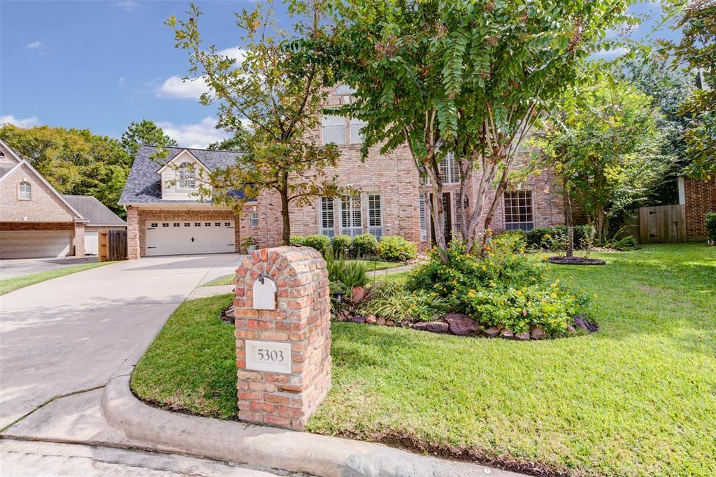 This elegant 5 bed, 3.5 bath, and 4 car garage home is a rare find in the popular Spring Creek Oaks subdivision. The home has been meticulously maintained with a recently replaced roof, three A/C units', and a 2020 refinished pool. Large open updated Island Kitchen/Den/Breakfast area overlooking the pool, downstairs billiard/media room, plantation shutters throughout, and a large bedroom/gym (19'x21') on the 2nd floor. The large master suite features a walk-in closet with a built-in dresser, an updated bathroom with granite countertops, double sinks, and a rain glass shower door. Enjoy 4 bedrooms upstairs, a game room with built-ins, and two full bathrooms. The backyard is where you will want to be on these nice cool nights, the house floorplan wraps around a beautiful waterfall pool and spa, two fire pits, plenty of grass for the kids/pets, and double-paned windows. Bring your toys to the almost 1000 sqft 4 car garage. 13,000 sq ft, cul-de-sac lot, and over 4,660 sqft of living space.