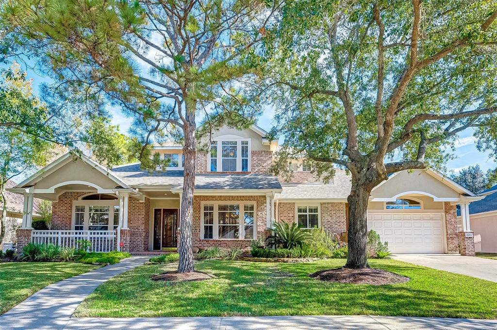 This unique & hard to find executive custom home W/ SPA/POOL is located on the 4th Fairway of The Golf Club at Cinco Ranch! The home features a double fairway view w/ mature trees on a cul-de-sac street in private, gated Fairway Manor. With 4 or 5 bdrms/4.5 baths/3 car garage, this home also has 2 studies, formal dining, large den w/ gorgeous golf course views. Upstairs:3 or 4 secondary bdrms; one w/ an en suite bath & the others sharing access to another full bath.  Huge game room could be a 2nd living room w/ built-ins & access to private balcony.  HUGE add'l room up could be a fantastic media room, bdrm or another gameroom.  Prmry bdrm down w/ 2nd study.  So much flex space (& storage space!) throughout this magnificent home to accommodate your lifestyle.  Carpet upstairs only; wood & slate floors down.  Fantastic outdoor living w/ covered balcony & patio, pool, spa, kitchen & yard leftover.  KISD schools; low tax rate. Easy access to amenities, shopping, dining & major roadways.